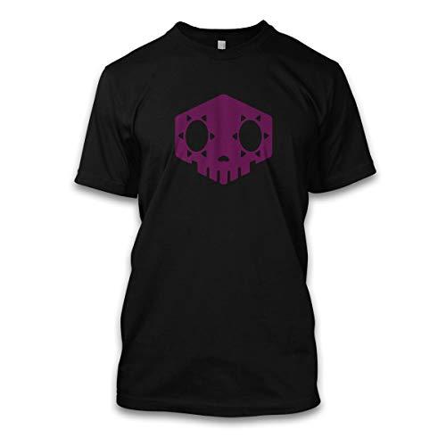 net-shirts Hacked Sombra T-Shirt mit Game Tracer Hanzo Diva Gamer Aufdruck Inspired by Overwatch, Größe M, Schwarz