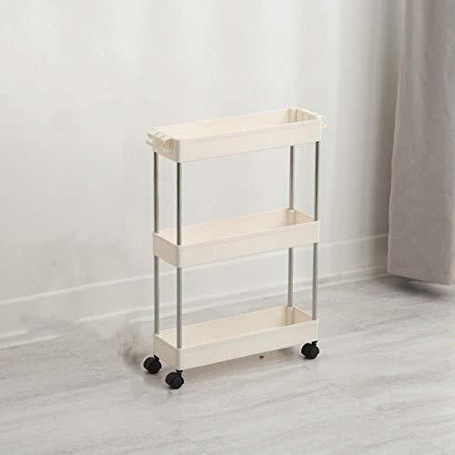 2/3/4 Layer Movable Assemble Plastic Bathroom Kitchen Storage Shelf Slim Slide Tower Rack Space Saving Organizer