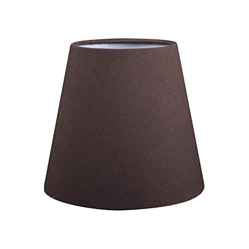 KEBY - Pantalla plana de PVC para lámpara de mesa de lino, en forma de onda, para salón, dormitorio