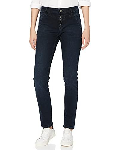 Taifun Damen 420014-19101 Straight Jeans, Blau (Blue Denim 83500), (Herstellergröße: 34)