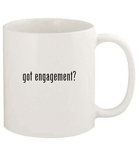 got engagement? - 11oz Ceramic White Coffee Mug Cup, White