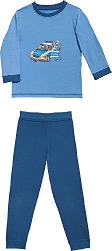 Erwin Müller Kinder-Schlafanzug mit Druckmotiv Single-Jersey blau/Marine Größe 110/116