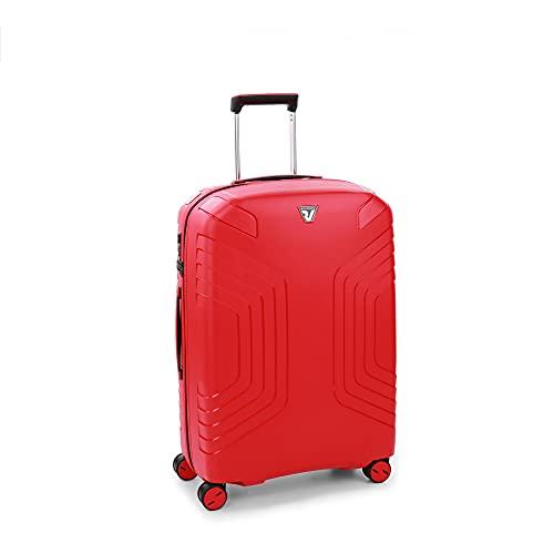 Roncato Ypsilon Maleta Mediana Expansible Rojo, Medida: 69 x 49 x 25/30 cm, Capacidad: 90/107 l, Pesas: 3.10 kg