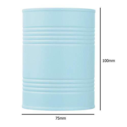 PLXX Boîte De Rangement De Bureau Récipient en Plastique Bureau Maquillage Brosse Ménage Cylindre Stylo Boîte De Rangement Crayon Brosse Pot Pot Stylo, Bleu