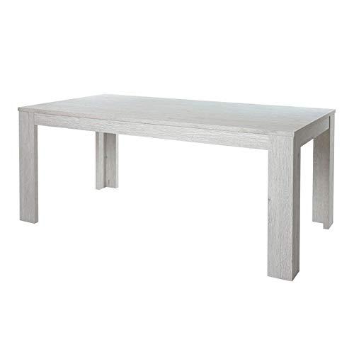 Tousmesmeubles Table de Repas Rectangulaire 160 cm - KASTOR - L 160 x l 92 x H 75 - Neuf