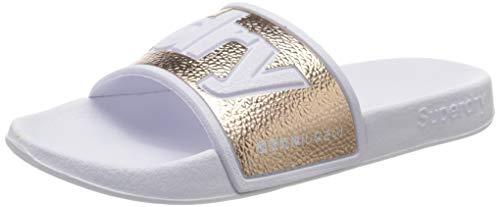Superdry Eva 2.0 Pool Slide, Zapatos de Playa y Piscina Mujer, Dorado (Rose Gold Tjk), 40/41 EU