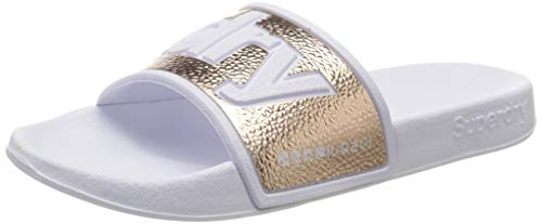 Superdry Damen Eva 2.0 Pool Slide Badeschuhe, Gold (Rose Gold Tjk), 38/39 EU