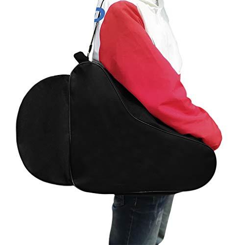 Bolsa de patines de patines en línea gruesa a prueba de agua para patines de hielo, bolsa de almacenamiento para adultos y niños, color negro