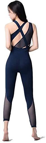 Sport Leggins,Yogahose Women's Workout Yoga Suit Training Dance Jumpsuit Strakke Ademende Mesh Jumpsuit Aerial Yoga Siamese Kleding Body for sport en Ftness (Size : M)