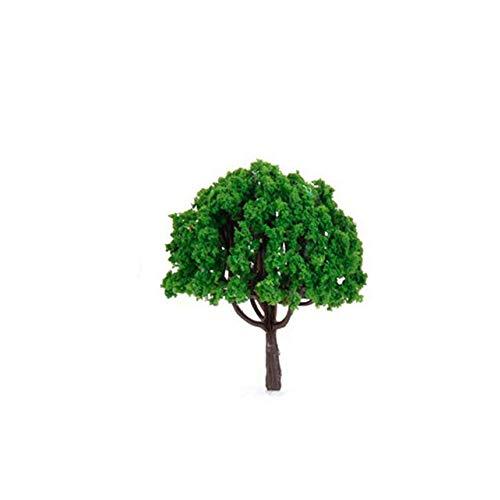 Ogquaton 10 STÜCKE Natürlichen Grünen Baum Modell Mini Pflanze DIY Landschaft für Eisenbahn Gebäude Sand Tisch Landschaft Dekoration Kreative und Nützliche