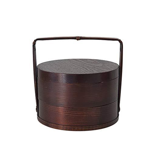 YYDS, contenitore per il pranzo in stile rétro portatile, in legno, anti-scottatura, per studenti, adulti, sushi e sushi (colore: B)