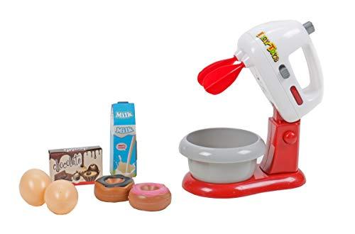 Eddy Toys Kinder Spielzeug Rührmaschine mit Schüssel für die Kinderküche, Licht- und Ton-Funktion, 2 Arten Rührfunktion