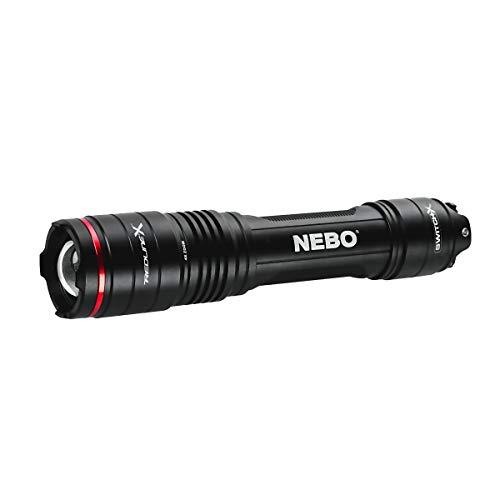 NEBO NB6860 Redline X Tactische led-zaklamp, 1.800 lumen Focus System, Li-Ion accu, waterdicht IPX7, zelfverdedigingsmodus