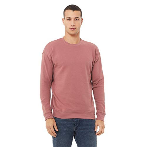 Bella + Canvas Unisex Adult Fleece Drop Shoulder Sweatshirt (S) (Mauve)