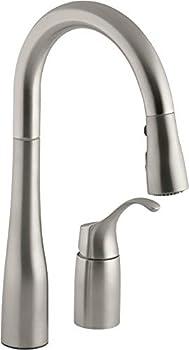 KOHLER K-649-VS Simplice Pull-Down Secondary Sink Faucet Vibrant Stainless