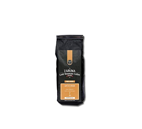 Zaruma Gold Mountain Coffee – Ecuadorian 100% Arabica Coffee. Medium Roast, Single Origin Ground Coffee (12 oz. bag). High Altitude Coffee