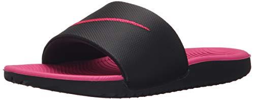 Nike Kawa Slide (GS/PS), Zapatos de Playa y Piscina Hombre, Multicolor (Black/Vivid Pink 001), 38/40 EU