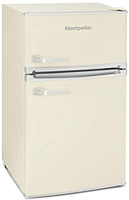 Montpellier MAB2031C Under Counter 1950's Retro Fridge Freezer in Cream