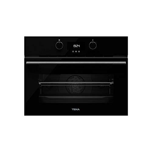 TEKA | Horno compacto Multifunción Urban Colors Edition | Modelo HLC 8400 | Hydroclean PRO y 9 funciones de cocinado | Eficiencia energética A+ | Negro | 45.5 x 59.5 x 55.9 cm