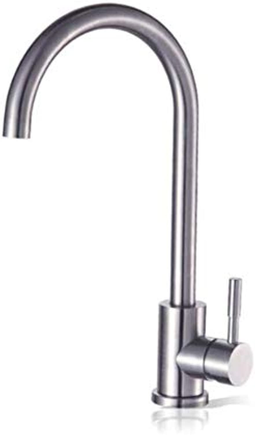 Chrome-Plated Vintage Brass Sink Bathroom Sink Basin Lever Mixer Tap 304 Stainless Steel Cold and Hot Kitchen Faucet Washing Basin Sink Faucet