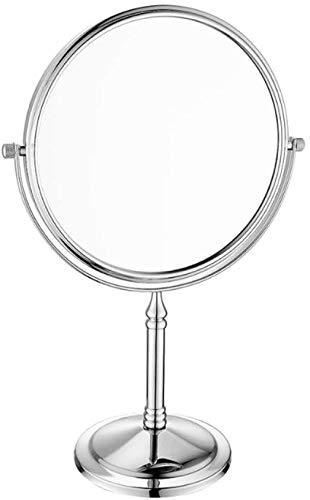 Doppelseitiger Spiegel, Spiegel 10X Amplifizierung Badspiegel Spiegel 360-Grad-Drehung im Schlafzimmer oder im Bad shaving,Silver
