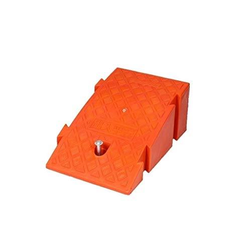 Gjrff Pad Paso coche, rampas de pendiente plástico al aire libre del cojín, Umbral del hogar Rampas centro comercial centro comercial de Rampas resistentes duradero de coches rampas (Color : Orange)