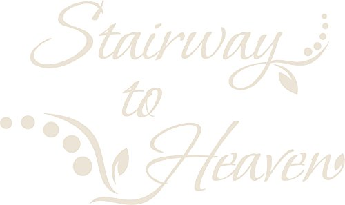 GRAZDesign Muurtattoo gang Stairway to Heaven - Wanddecoratie Muurspreuk in het Engels / 720308 84x50cm 816 Antique White