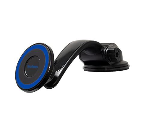 TecVines - Soporte magnético para parabrisas y salpicadero de coche, compatible con iPhone 12 Series Pro, Max, Mini. Soporte ajustable para teléfono no necesita placa de metal [azul]
