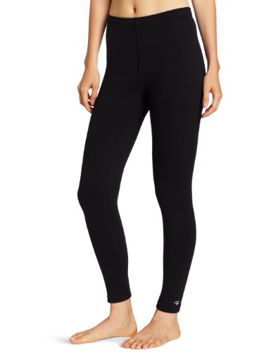 Duofold Women's Heavy Weight Double Layer Thermal Leggings, Black, Small