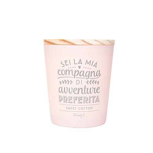Mr.wonderful Candela Sei La Mia Compagna di Avventure Preferita (It), Cristallo, Pink, 25x25x20 cm