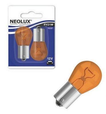 NEOLUX N581-02B PY21W 12V 21W BAU15s GELB BLINKER BLINKLEUCHTEN Blister 2 Stück NEOLUX® by OSRAM
