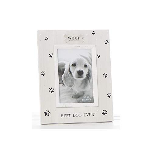 Pawprints Frame 4x6 Dog - Portrait Photo Frame - Dog/Pupp