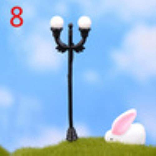 Gbc-type 10 stijlen mini retro straatlamp miniatuur tuin decoratie lantaarn figuritas Fairy Garden Resin Craft Decoratie