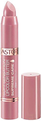 Astor Soft Sensation Lipcolor Butter Supreme Care, 034 Dewy Plum, pflegender Lippenstift, 1er Pack (1 x 5 g)
