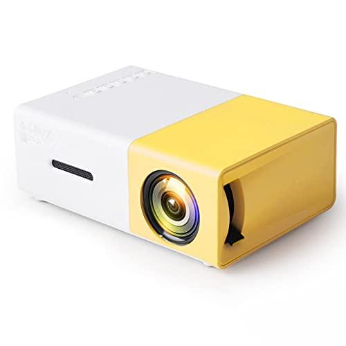 SBSNH Mini proiettore LED Portatile Home Theater Gioco Video Player Altoparlante USB Compatibile con SD YG-300 Videoproiettore per Bambini