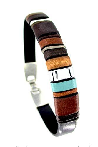 Bracciale in pelle marrone, Enna Clasic N 11, bracciali in pelle, accessori uomo, bracciali uomo, accessori di lusso, bracciali esclusivi