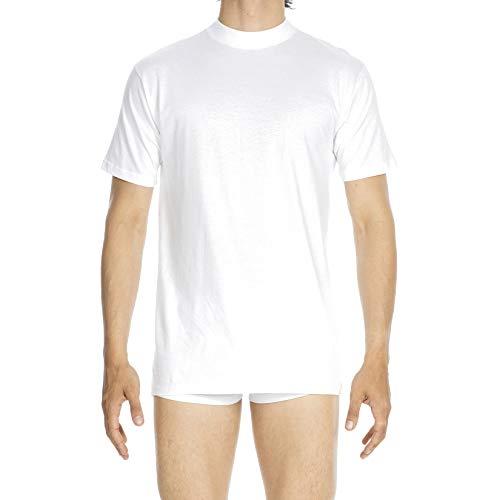 HOM - Herren - T-Shirt Rundhals 'Harro New' - 100% Baumwolle - Weiß - Grösse L
