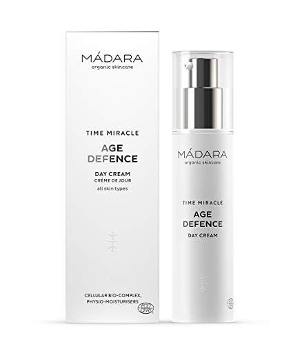 MÁDARA Organic Skincare | Time Miracle Age Defence Day Cream - 50ml, Multimoleculair hyaluronzuur, fysio-vochtinbrengende middelen en cellulair biocomplex, gebaseerd op noordelijk berkenwater, ECOCERT-gecertificeerd.