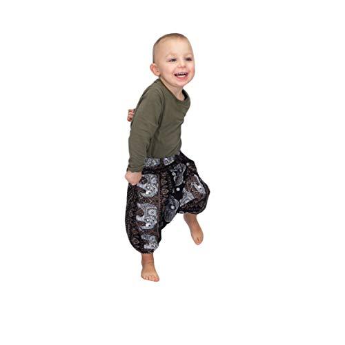 Mienloco Baby Kinder Jungen und Mädchen Aladinhose Haremshose (3-4 Jahre, 1)