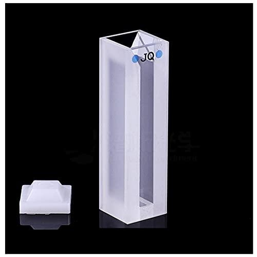 Xue Mei Zi Capacidad de la cubeta sinterizada en Polvo de Cuarzo 1. 75ml TRAPUESTA ÓPTICA 10 mm Transmitancia de luz 80% Longitud de Onda aplicable 200 NM- 2500 NM Dimensiones 12.5x12. 5x45 mm