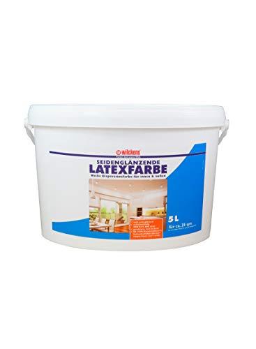 Latexfarbe seidenglänzend 5 l ca. 30 m² Putz Beton Faserzement Innenfarbe Farbe glänzend Wilckens