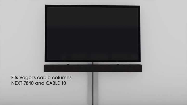 Vogel S Sound 3400 Universal Soundbar Holder Can Be Combined With Next 7840 Cable 10 M L Black Home Cinema Tv Video