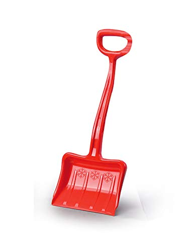 Jamara 460399 - Snow Play Schneeschaufel Tally 70 cm rot - Kunststoffstiel mit handlichem D-Griff, robuster und stabiler Kunststoff, verstärkungsrippen im Schaufelblatt für gute Streifigkeit