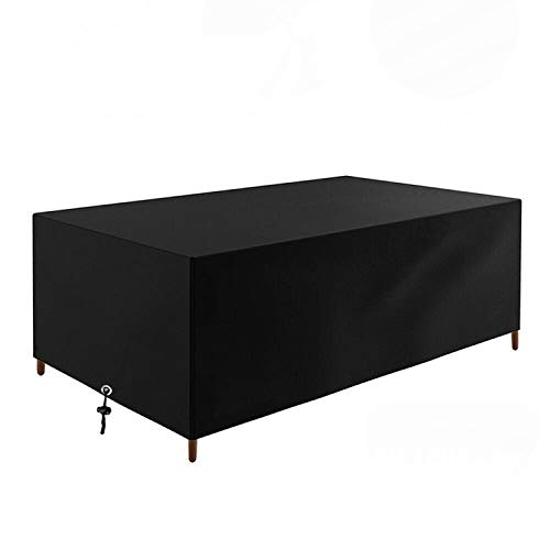 U/K Patio Garden Furniture Covers,420D Oxford Fabric Rectangular Cube Heavy Duty Windproof Waterproof Outdoor Patio Table Cover Protector (350 * 260 * 90cm)