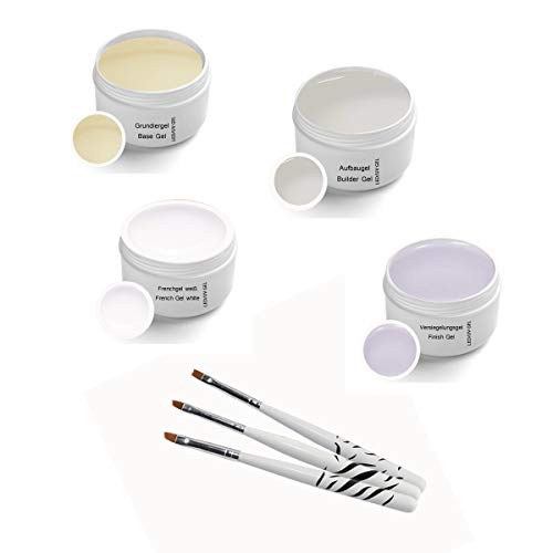 Sun Garden Nails - Gel UV classique Set 4x 5 ml y compris Brush Set
