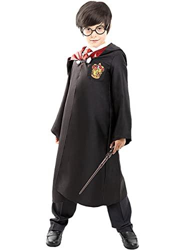 Funidelia | Disfraz Harry Potter Oficial para niño y niña Talla 5-6 años ▶ Hogwarts, Magos, Películas & Series - Color: Negro - Licencia: 100% Oficial