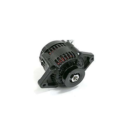 TSP Black Mini Denso Racing Style V-Belt 90 Amp Alternator ES1004BK