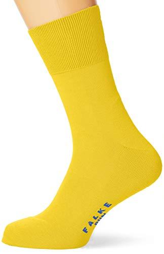 FALKE Unisex Socken Run - Baumwollmischung, 1 Paar,Gelb (Deep Yellow 1007), 46-48 (UK 11-12.5 Ι US 12.5-13.5)