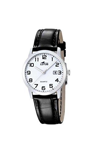 Lotus Damen Analoger Quarz Uhr mit Echtes Leder Armband 18240/1