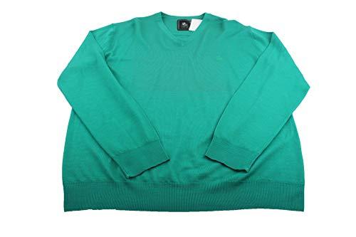 Preisvergleich Produktbild OTTO KERN 30026 Strick V-Ausschnitt Herren Pullover Gr.56 grün Neu